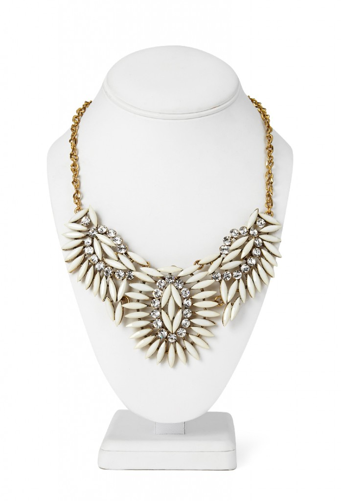 Clustered Faux Stone Bib Necklace $8.80 (Forever 21)